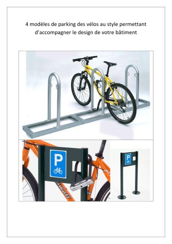 Assortiment de 4 modèles de range-vélos