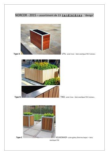 Assortiment de Jardinières publiques design