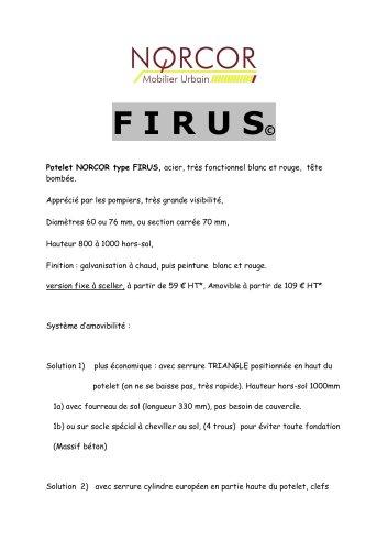 Bornes & potelets de voirie FIRUS, antistationnement