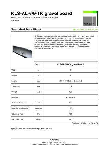 KLS-AL-6/9-TK gravel board