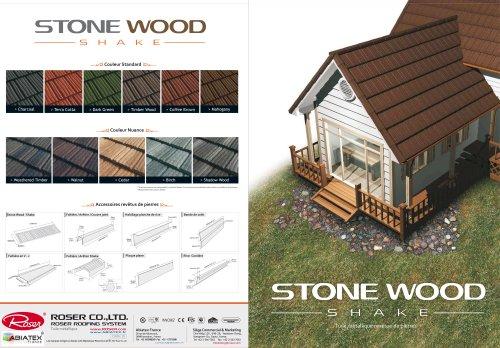 Tuile acier de Montagne -Stone Wood Shake