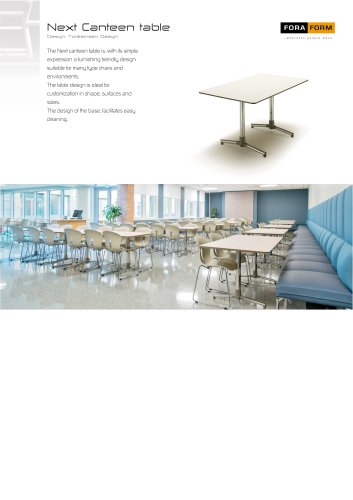 Next Canteen table