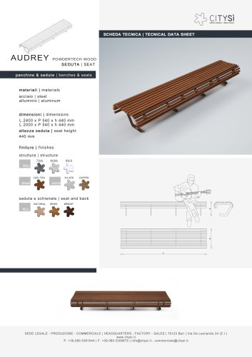 AUDREY SEAT POWDERTECH WOOD