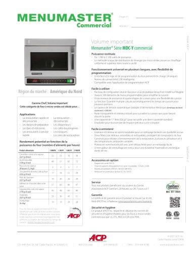 Menumaster® Série MDC-Y commercial