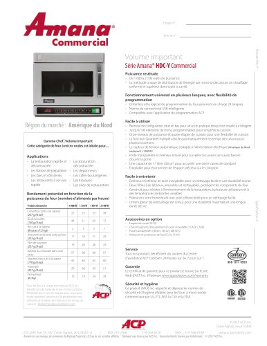 Série Amana® HDC-Y Commercial