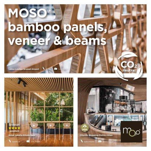 bamboo panels, veneer & beams
