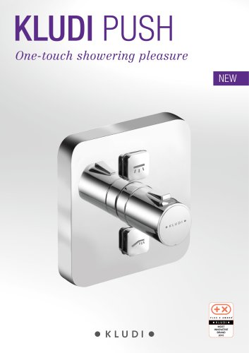 KLUDI PUSH One-touch showering pleasure
