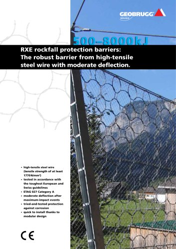 RXE rockfall protection barriers