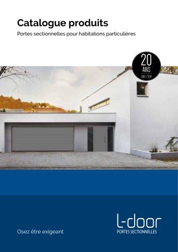 Catalogue produits Portes sectionnelles pour habitations particulières