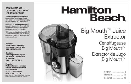 Big Mouth™ Juice Extractor