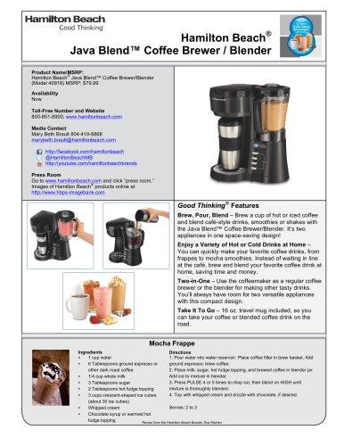 Hamilton Beach® Java Blend? Coffee Brewer / Blender (40918)