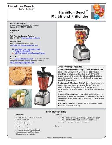 Hamilton Beach® MultiBlend? Blender (53511)