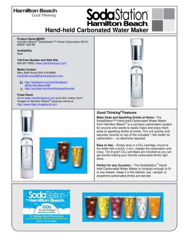 Hamilton Beach® SodaStation? Hand-Held Carbonated Water Maker (85101)