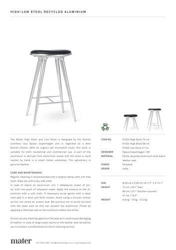 High Stool   Aluminium