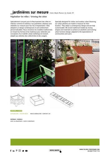 TF URBAN - bac à arbres et fleurissement sur-mesure - design by Studio TF