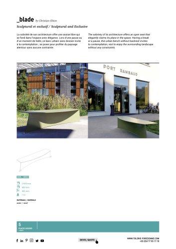 TF URBAN - banc BLADE - design by Christian Ghion