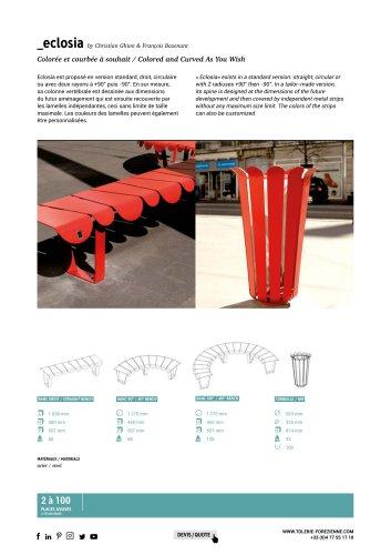 TF URBAN - banc ECLOSIA - design by Christian Ghion et François Bazenant