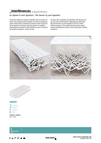 TF URBAN - banc sculpture INTERFERENCES - design by Alexandre Moronnoz