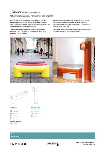 TF URBAN - FLAQUE bench - design by Marie-Christine Dorner