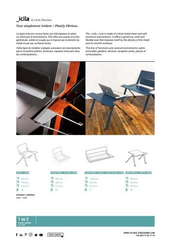 TF URBAN - ICILA chair - design by Cécile Planchais