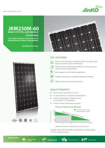 Standard Module for US:JKM250M-60(230W~250W) US
