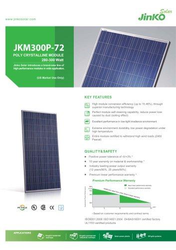 Standard Module for US:JKM300M-72(280W~300W) US