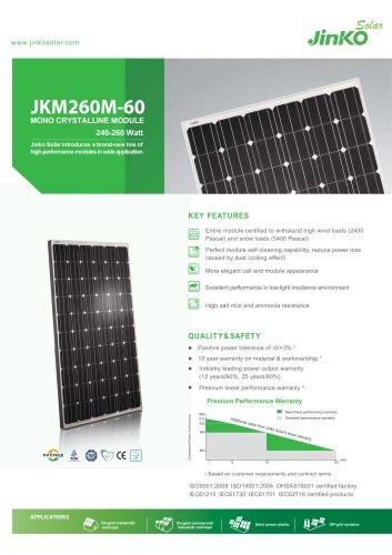 Standard Module:JKM260M-60(240W~260W)