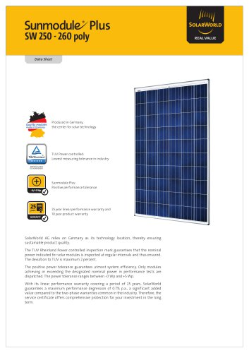 Sunmodule Plus SW 250-260 poly