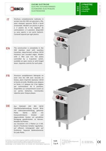 ELECTRIC KITCHEN RANGES - 900