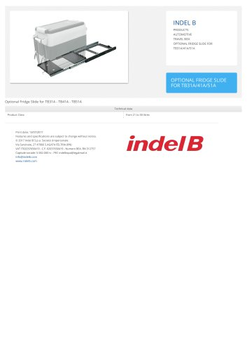 OPTIONAL FRIDGE SLIDE FOR TB31A/41A/51A