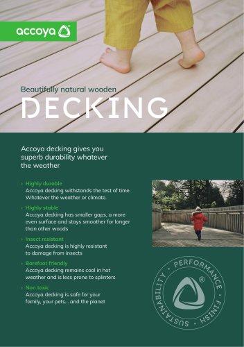 Accoya Benefits Flyer – Decking