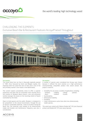 Exclusive Beach Bar & Restaurant Features Accoya® Wood Throughout