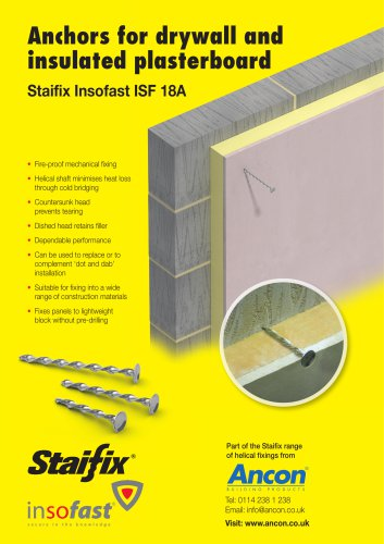 Staifix Insofast ISF 18A Insulated Plasterboard Fixing