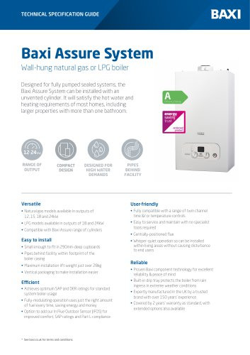 Baxi Assure System