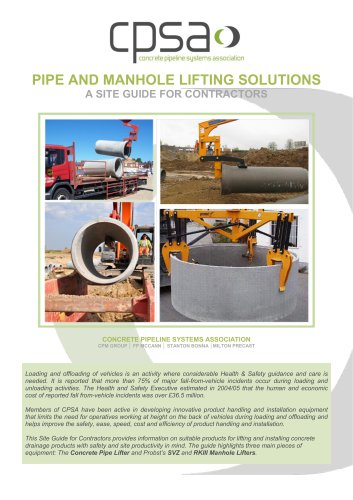PIPE AND MANHOLE LIFTING SOLUTIONS