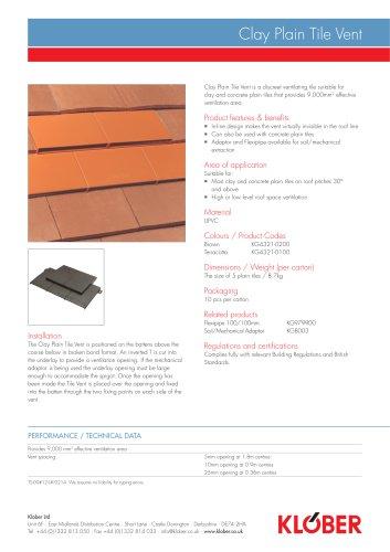 Clay Plain Tile Vent