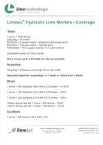 Limetec® Hydraulic Lime Mortars-Coverage