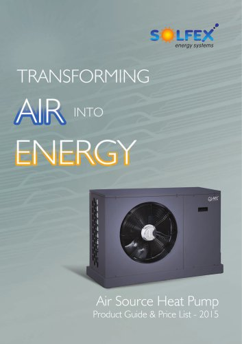 Air Source Heat Pump Product Guide 2015