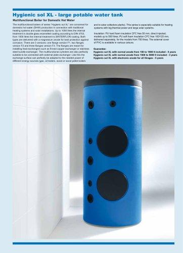 Hygienic sol XL - large potable water tank