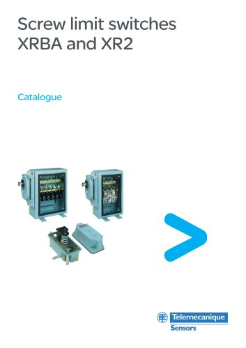 Catalogue:Screw limit switches XRBA and XR2