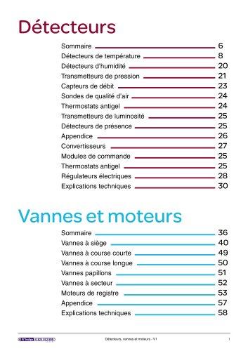 CVC- Détecteurs, vannes, moteurs