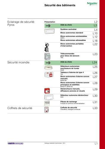 Résidentielet petit tertiaire:catalogue 2013/chapitre L