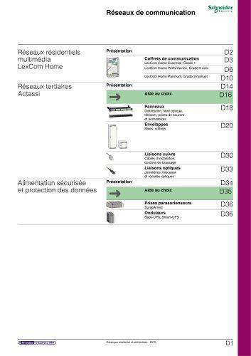 Résidentielet petit tertiaire:catalogue 2013/chapitre D