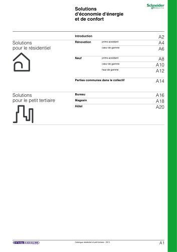 Résidentielet petit tertiaire:catalogue 2013/chapitre A
