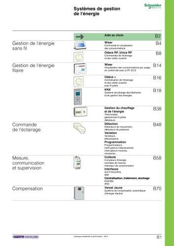 Résidentielet petit tertiaire:catalogue 2013/chapitre B