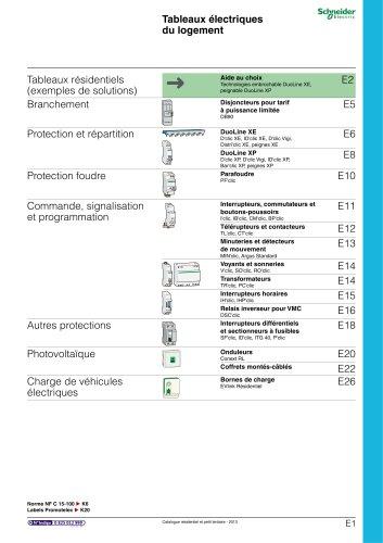 Résidentielet petit tertiaire:catalogue 2013/chapitre E