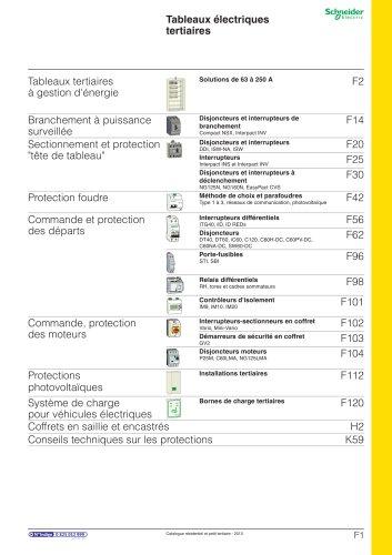 Résidentielet petit tertiaire:catalogue 2013/Chapitre F