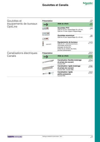 Résidentielet petit tertiaire:catalogue 2013/chapitre J