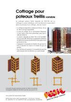 Coffrage pour poteaux Treillis variable - Information sur le produit - 2