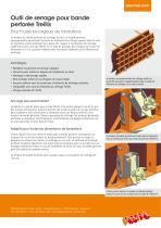 Outil de serrage pour bande perforée Treillis - Information sur le produit - 2